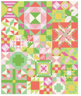 My Favorite Color is Moda quilt kit PRIMROSE GARDEN