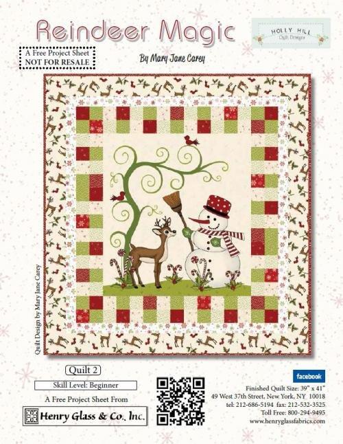 Reindeer Magic Holly Hill Designs Quilt #2