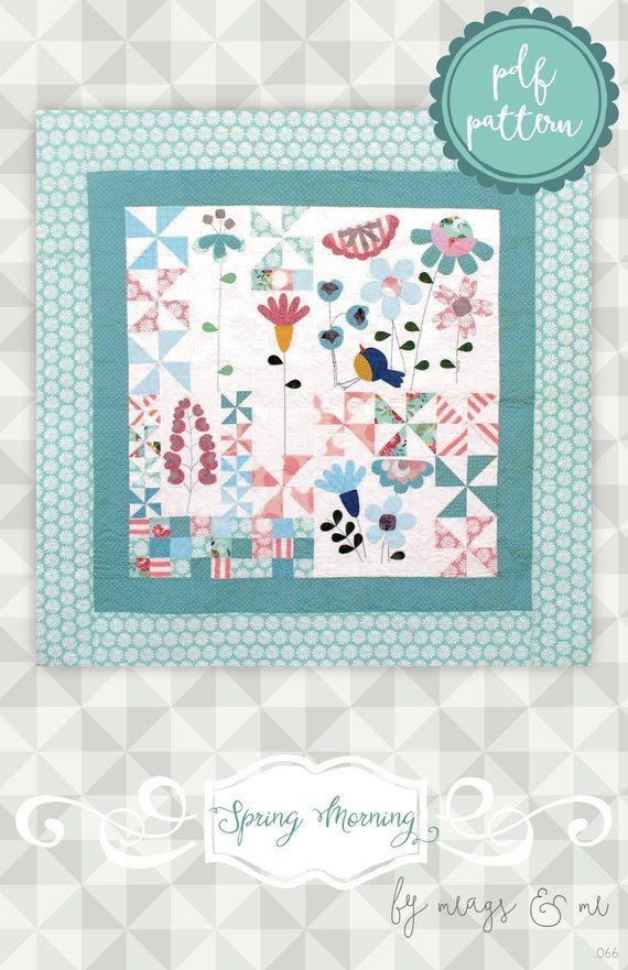 Spring Morning Flower Quilt by Meags & Me