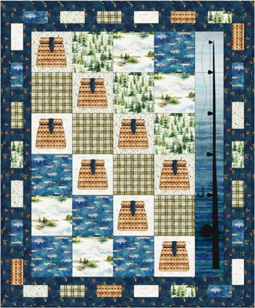 Gone Fishing Quilt Kit