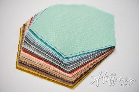 Indah Hand Dyed Hexagon Pre Cuts