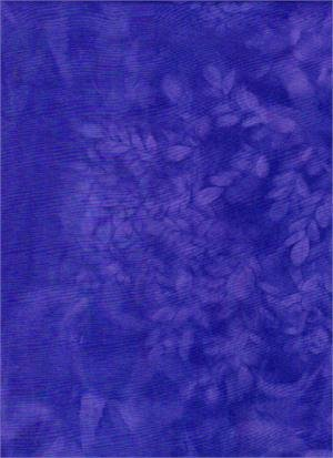 Batik Textiles - Purple Blue Ferns