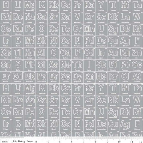 Periodic Table in Gray