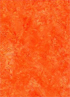Batik Textiles - Orange Swirls