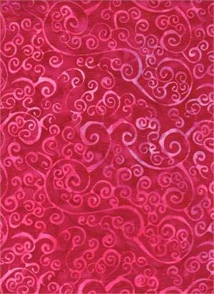 Batik Textiles - Valentine Pink