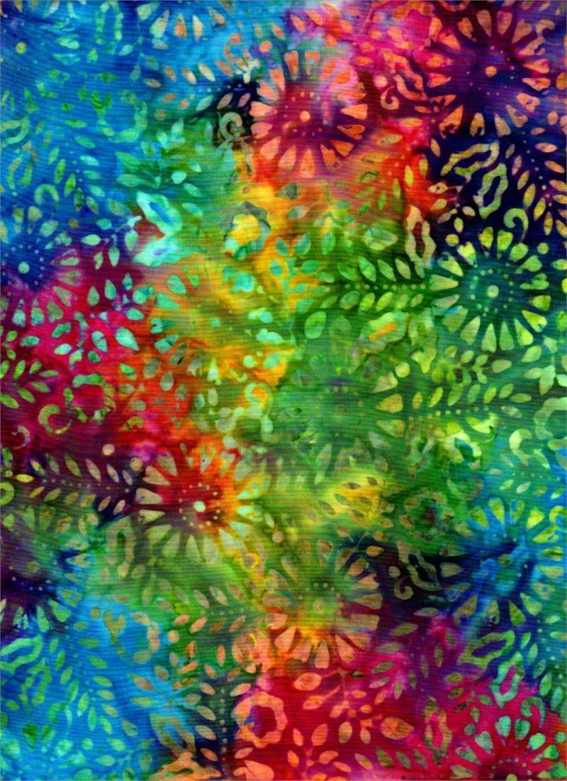 Batik Textiles - Venus, Gattails, & Moon Bayou - Mulit Floral