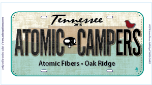 Atomic Campers Plate 2016
