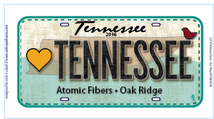 Love Tennessee Plate 2016