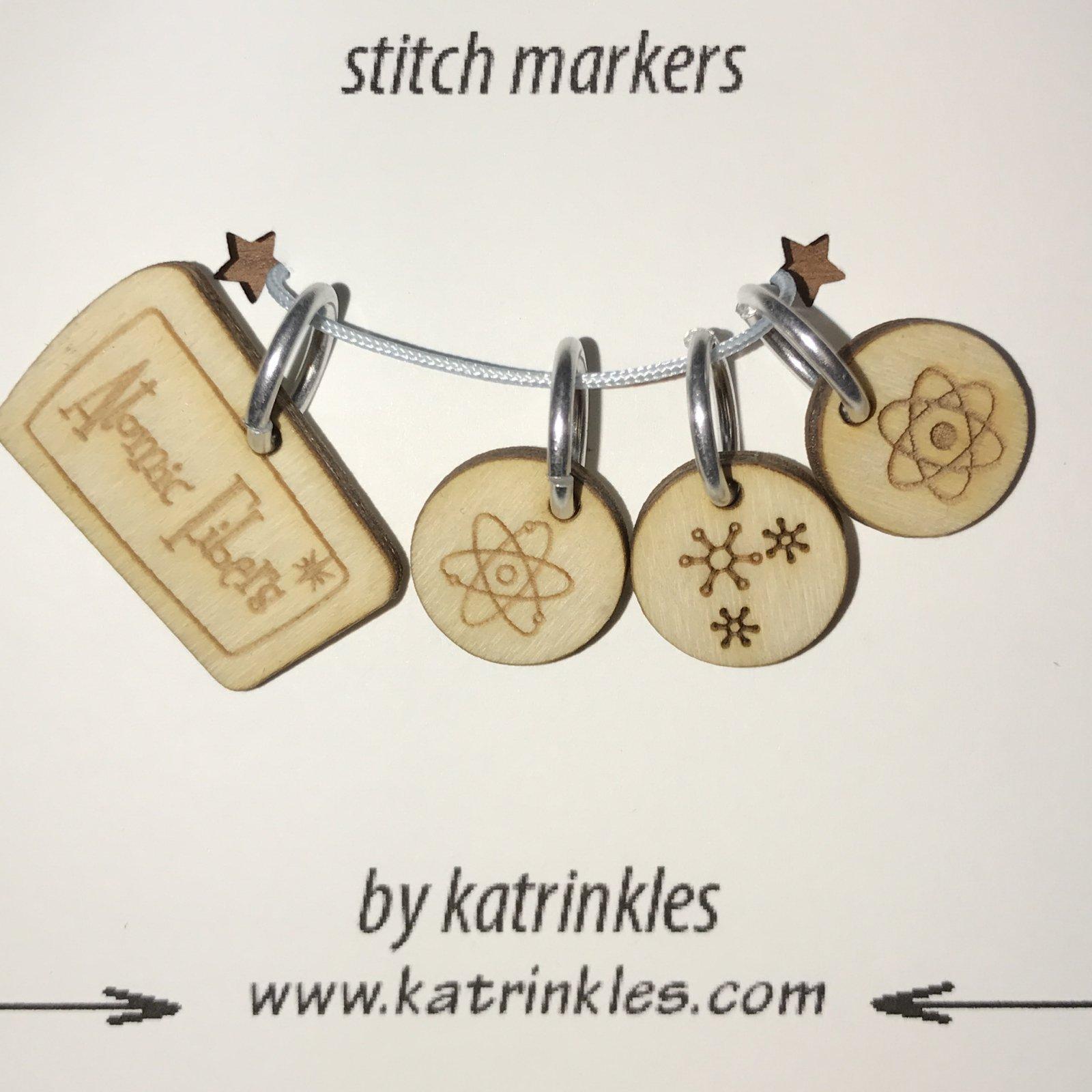 Atomic Fibers Stitch Markers