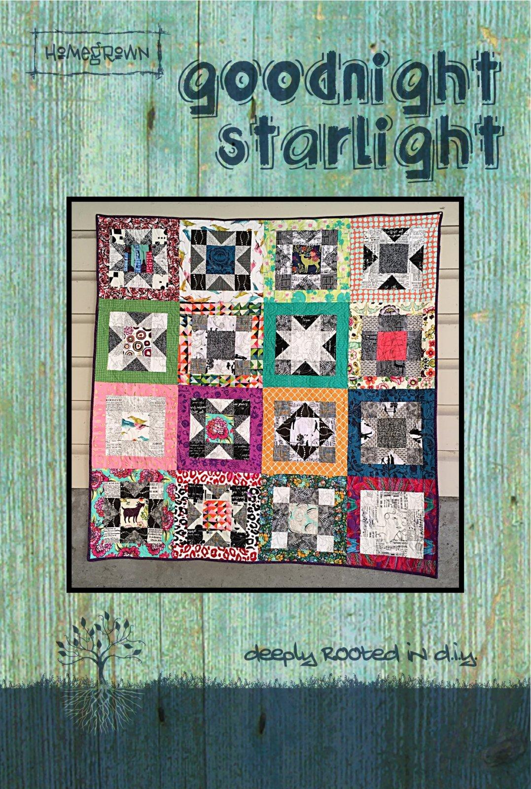 Postcard Pattern - Goodnight Starlight