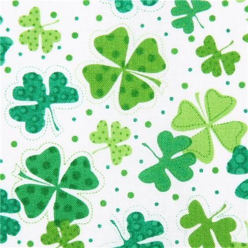 Lucky Clovers on White