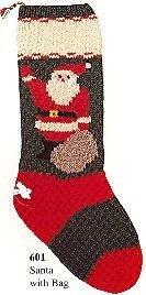 Christmas Stocking Kit - Santa With Bag