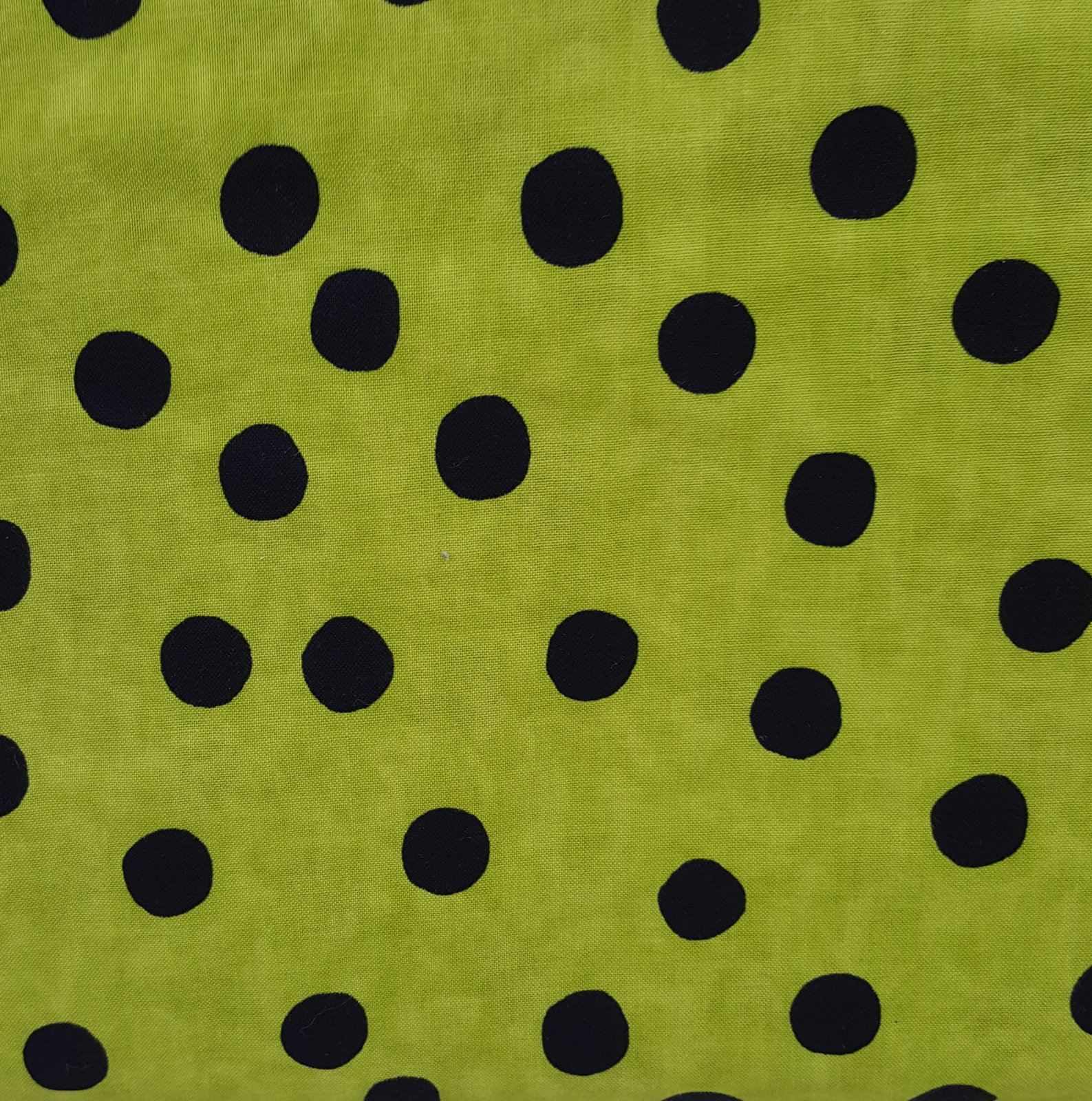 5592-69 Spooktacular Too Green/Black Dots
