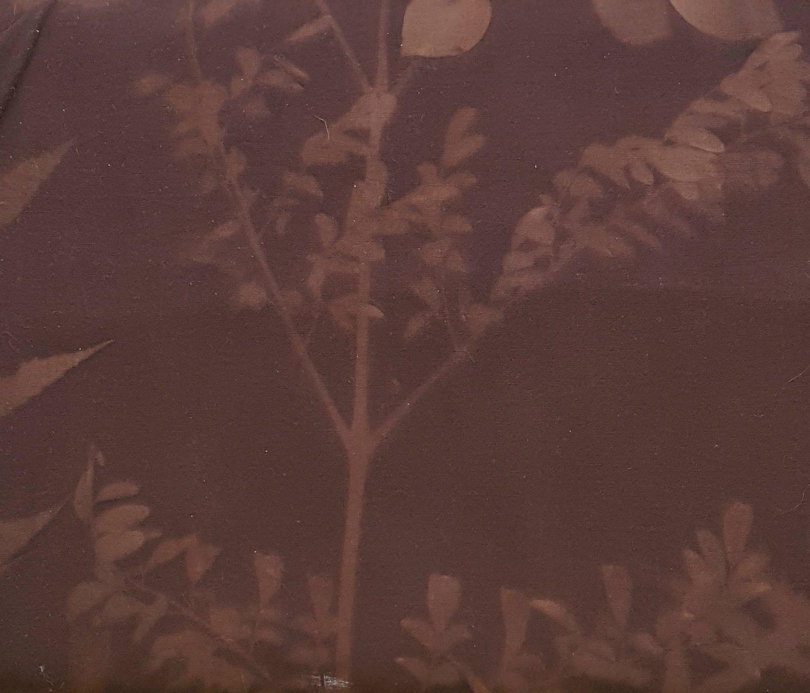 1956S Batik Textiles - brown leaf