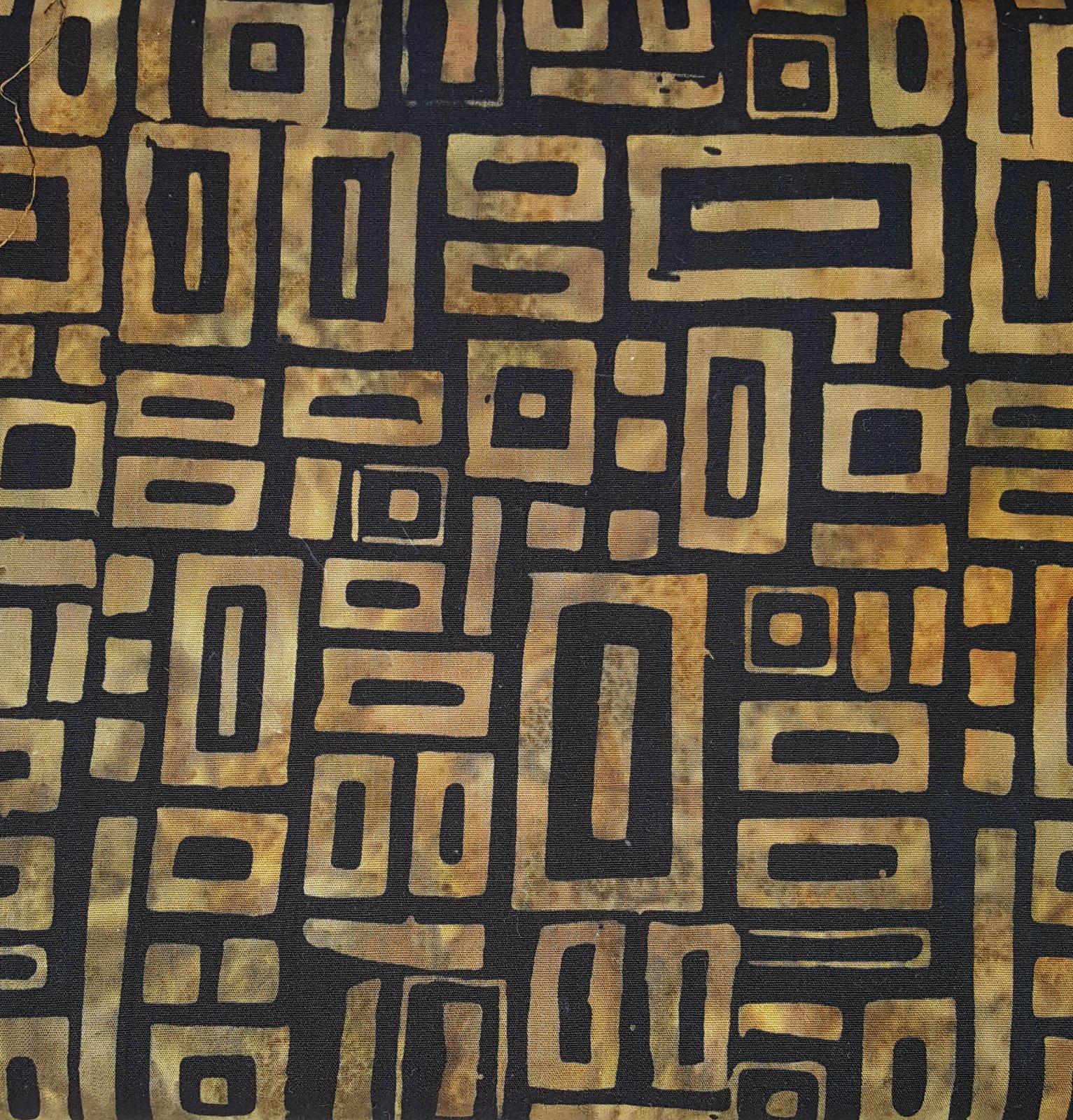 2317 Batik cotton print - brown/black