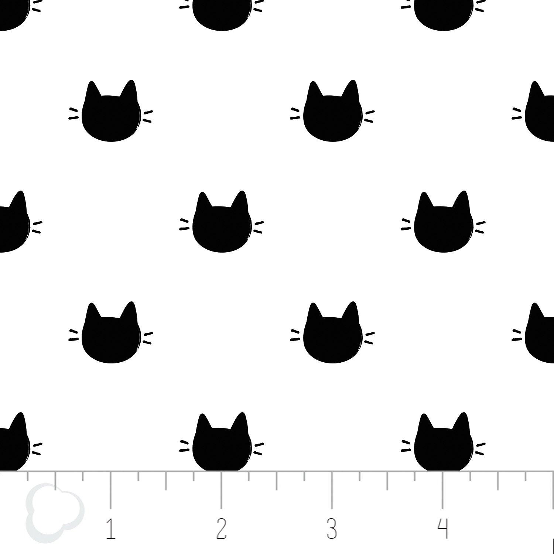 21170105-01 Meow Kitty Dots white