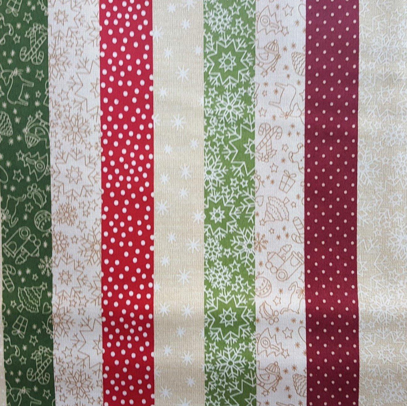 2777-0166 Wrapped In Joy Multi-colored stripe