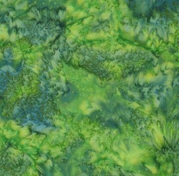 5146B Bali Batik cotton blender - green