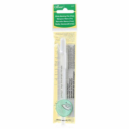 517CV Water Soluble or Iron Off Marking Pen White