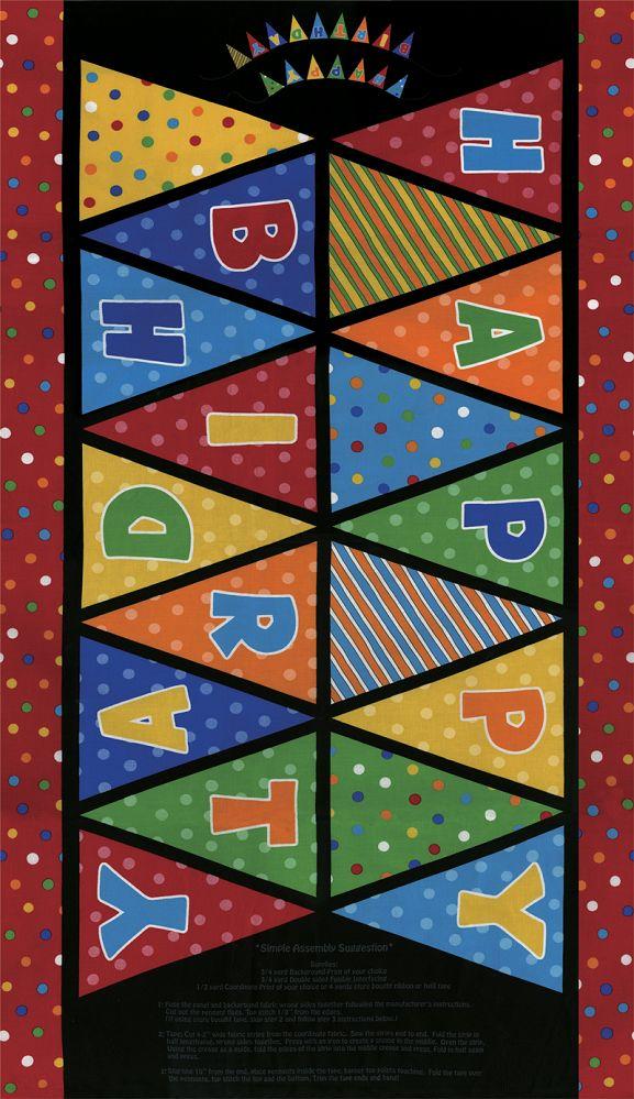 06776  Beary Happy Birthday Banner Panel