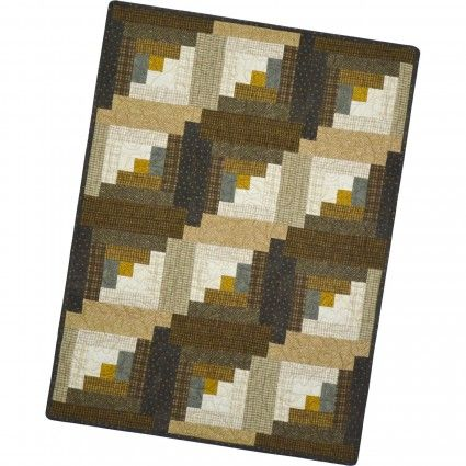 12 Block Log Cabin Hazelnut Pre Cut Kit