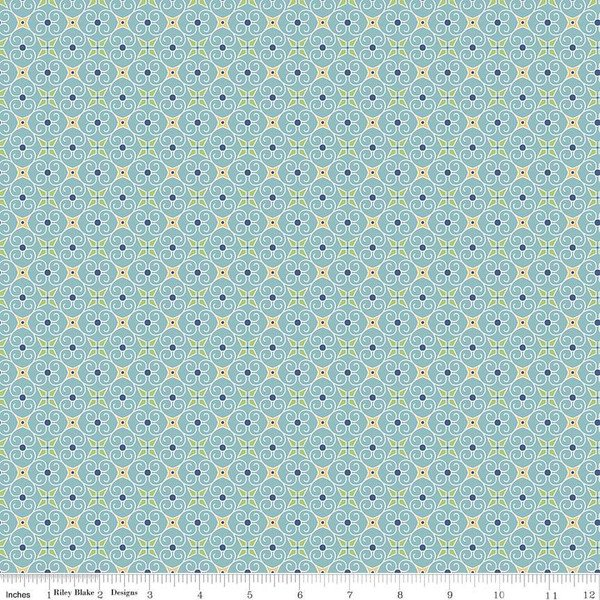 C5367-BLUE Cozy Christmas--Lori Holt--Wrapping Paper Blue