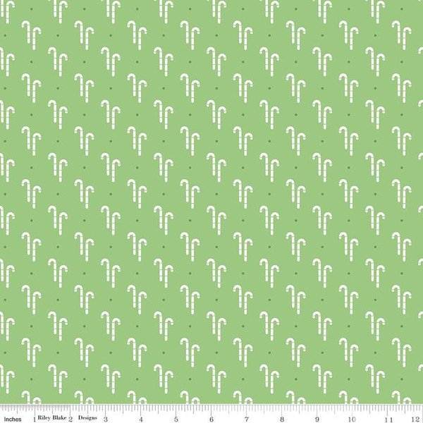 C7970-GREEN Cozy Christmas--Cozy Candy Canes Green