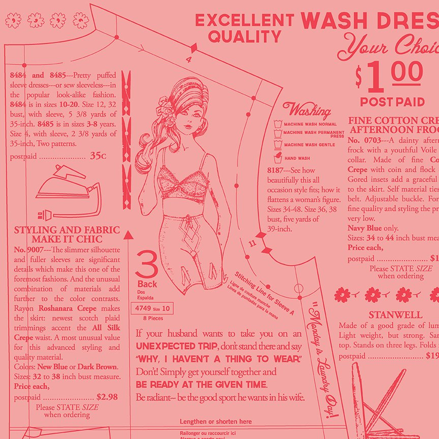 C9140-CORAL Vintage Happy 2--Dressmaking