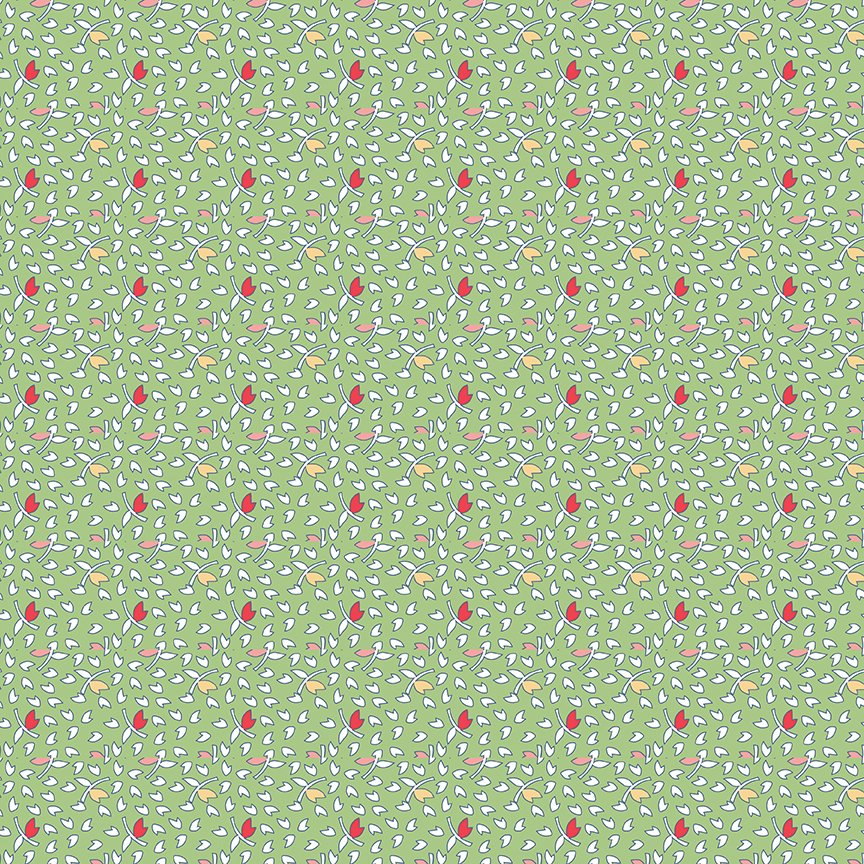C9141-GREEN Vintage Happy 2--Leaves