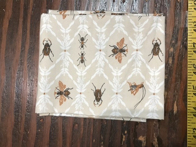 Fat Quarter - AGF Lambkin bugs in brown