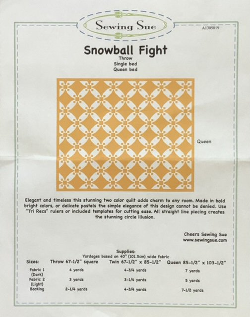 SEWING SUE - SNOWBALL FIGHT