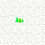 FAVORITE THINGS 52158-2 TREES WHITE