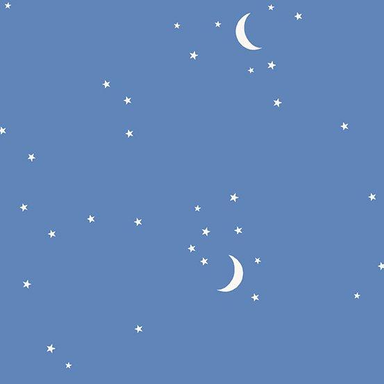MOON AND STARS A-9708-B1 BLUE