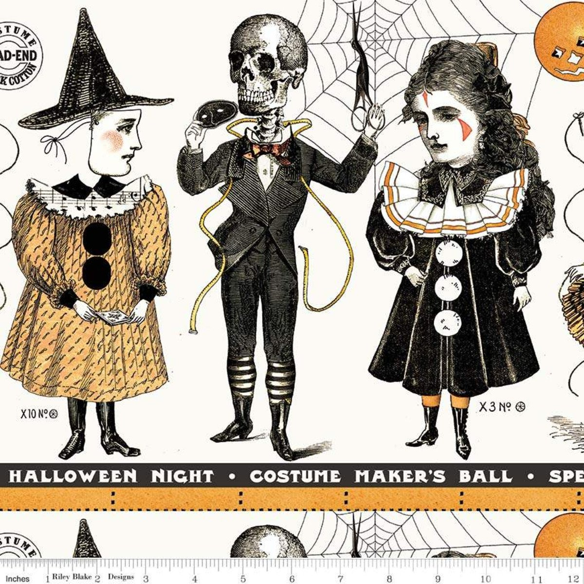 C8363-CREAM costume makers ball border stripe