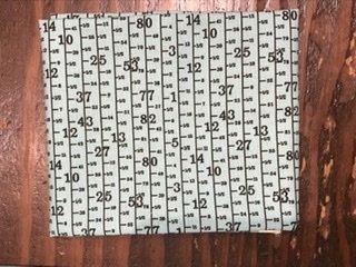 Fat Quarter - Moda measuring tape aqua