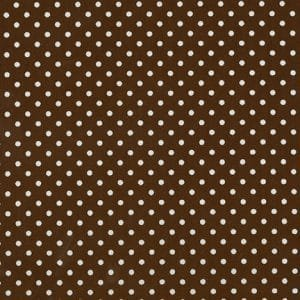 1/4 inch white dot on chocolate brown
