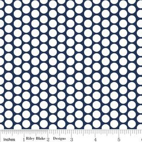 WHITE HONEYCOMB DOT ON NAVY F680-21 FLANNEL