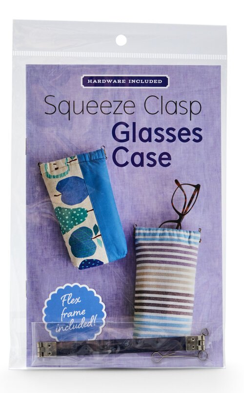 SQUEEZE CLASP GLASSES CASE - Pattern with Hardware included
