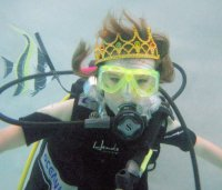 Child with Crown underwater