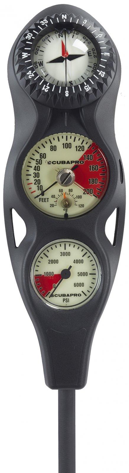 SCUBAPRO 3 Gauge In-Line Console w/FS-1.5 Compass