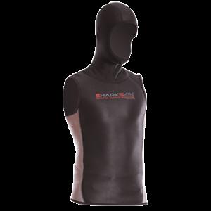 SHARKSKIN Men's Hooded Sleeveless Vest (No Zip)