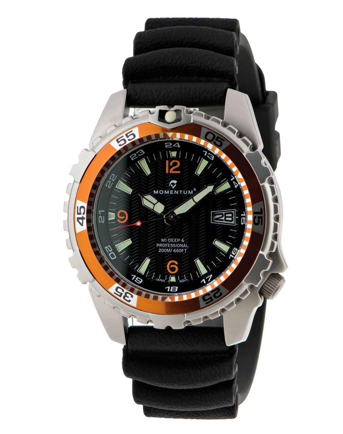 MOMENTUM Watch - M1 Deep 6 With Black Fitted Rubber Band