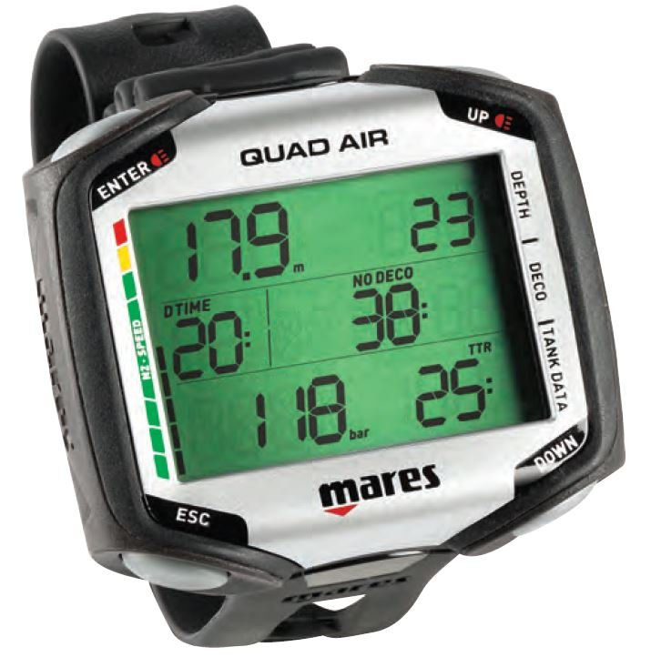MARES Quad Air-Integrated Wrist Computer (Transmitter sold separately)