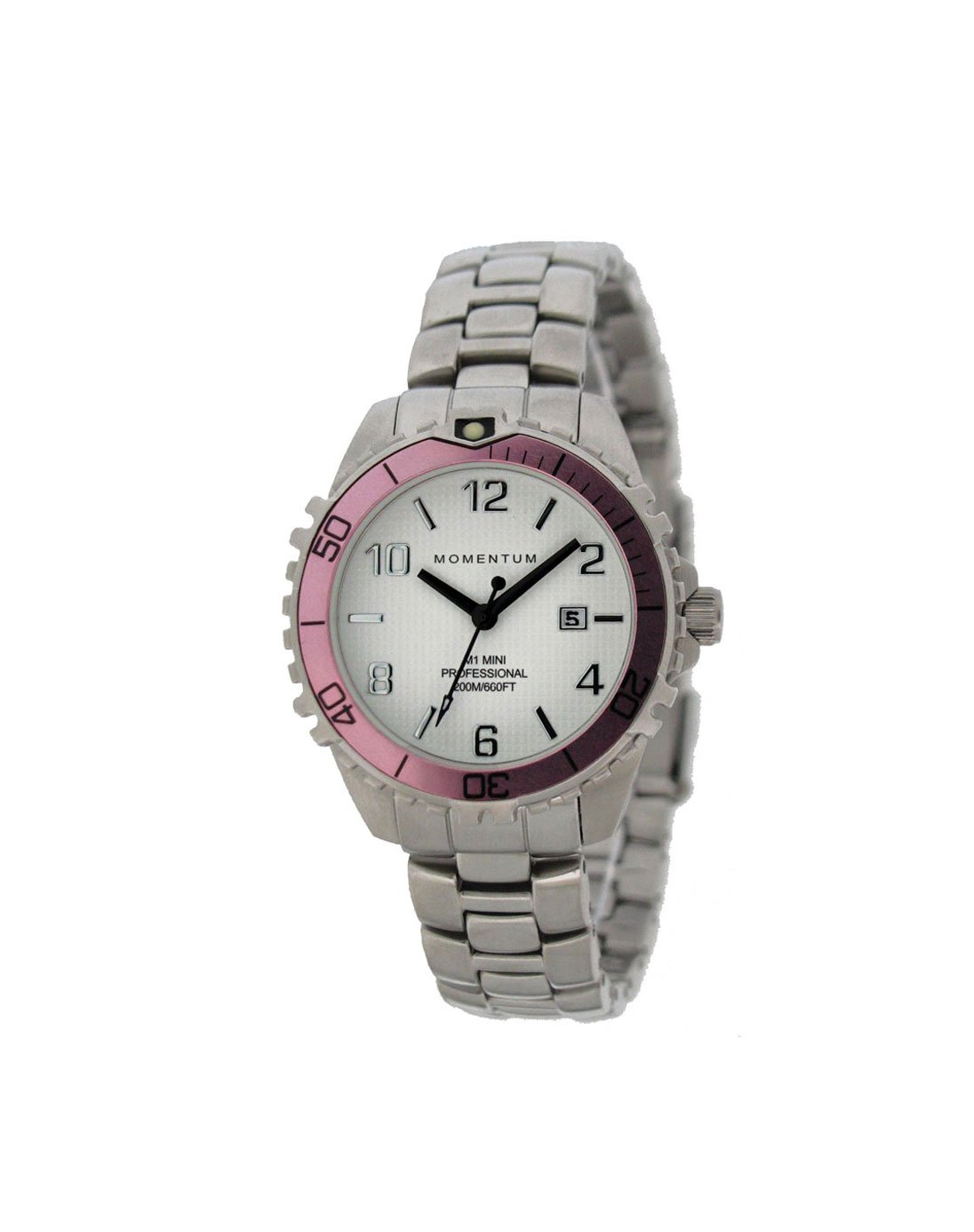 MOMENTUM Watch - M1 Mini Steel with Pink Face