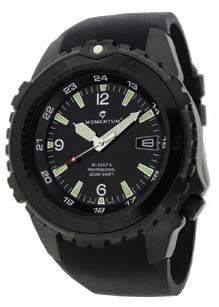MOMENTUM Watch - M1 Deep 6 Vision - Night Vision - With Black Fitted Rubber Band