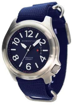 MOMENTUM Watch - Steelix With Nylon Blue Band