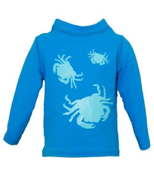 PRAWNO Little Crabs Long Sleeve Rash Guard - Toddler