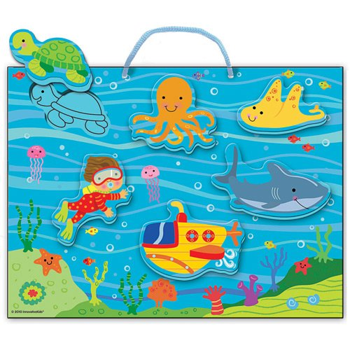 INNOVATIVE KIDS Soft Shapes Chunky Puzzle Playsets:  Deep Sea Dive