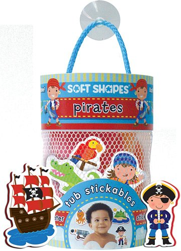 INNOVATIVE KIDS Soft Shapes Tub Stickables: Pirates