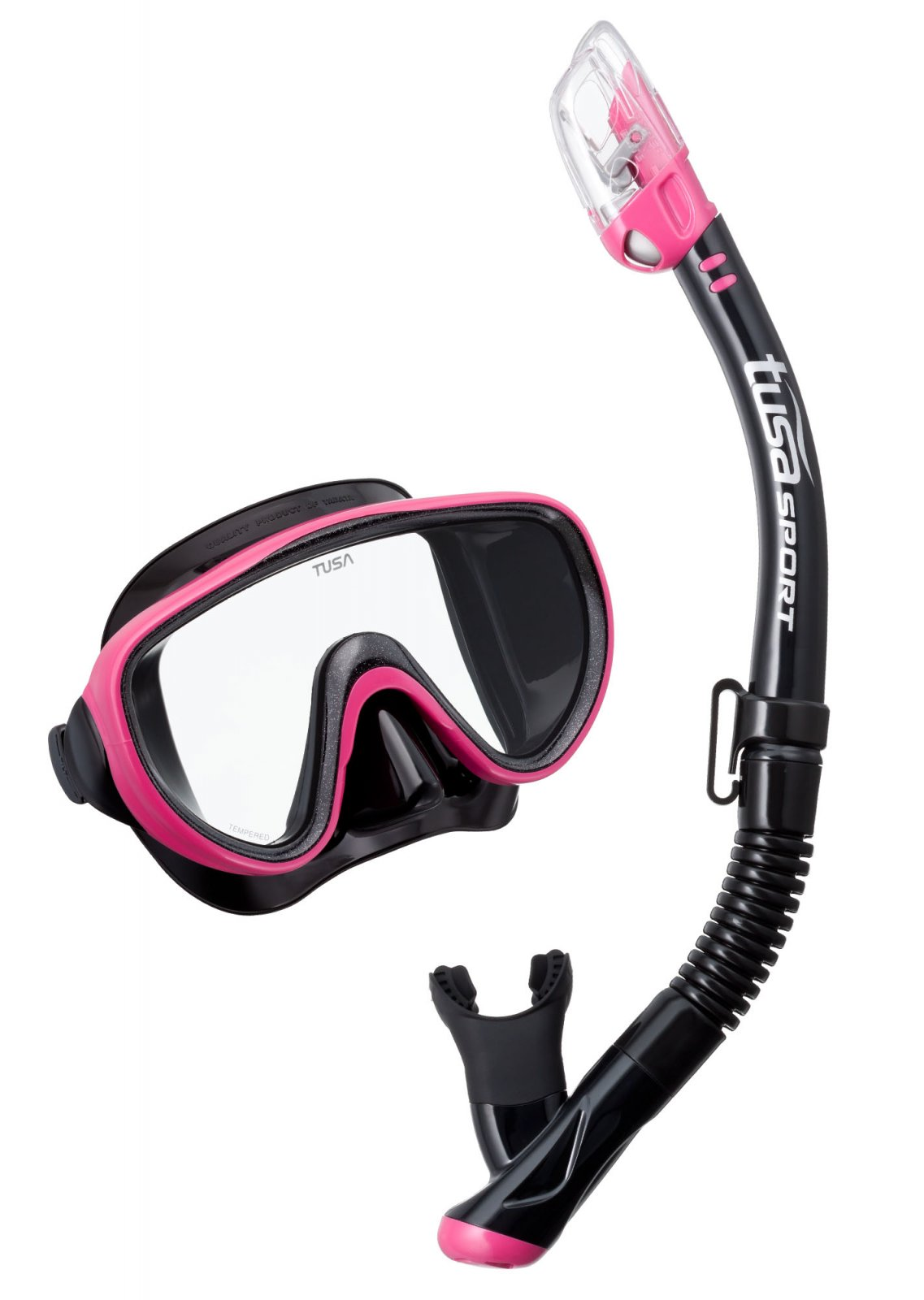 TUSA Serene Adult Mask & Snorkel Set (Black Series Combo)